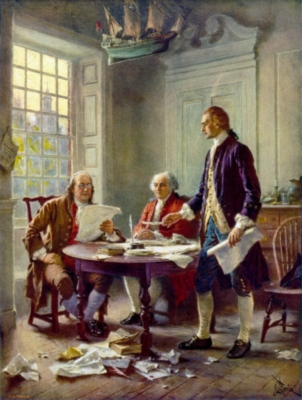 Writing the Declaration of Independence - 550pc Tin Boxed Jigsaw Puzzle by Channel Craft