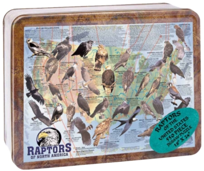 Jigsaw Puzzles - Raptors of North America (Tin Box)