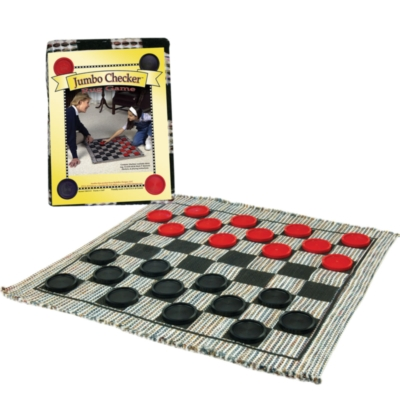 Jumbo Checkers Rug (Includes Checkers)