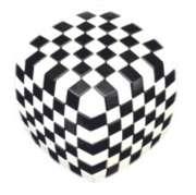 Puzzle Cubes - V-Cube 7 Illusion (Black & White Version)