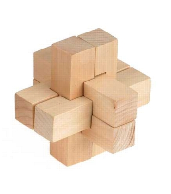 Cross - 12 Piece Wooden Interlocking Puzzle