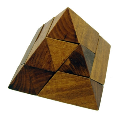 Interlocking Wooden Puzzle - Pyramid