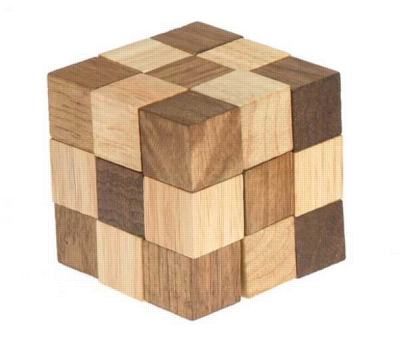 Chain Cube - Wooden Assembly Puzzle