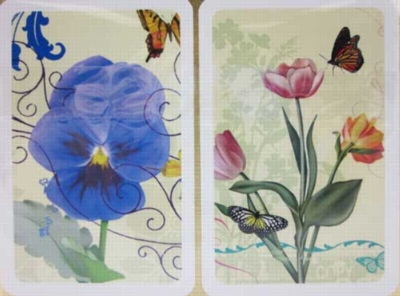 Blue Blossoms - Double Deck Playing Cards