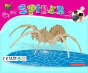 Spider - 27pc Wooden 3D Assembly Puzzle