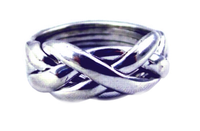 Vogue Weave - Ladies 4 Band Sterling Silver Puzzle Ring