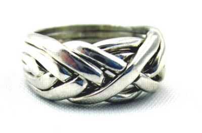 Complexity - Ladies 6 Band Sterling Silver Puzzle Ring