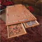 Jumbo Wooden Puzzle Plateau - Jigsaw Storage & Activity Board