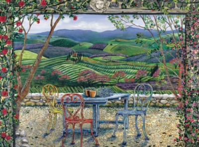 Rose Gate, Tuscany - 1000pc Jigsaw Puzzle by Bits & Pieces