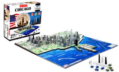 Chicago - 950pc 4D Cityscape Jigsaw Puzzle