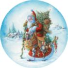 Olde World Santa - 300pc Large Format Shaped Jigsaw Puzzle by Serendipity