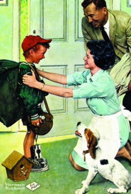 Norman Rockwell: Home From Camp - 500pc Jigsaw Puzzle in a Tin by Serendipity