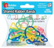 Shaped Rubber Bands - Holiday Style