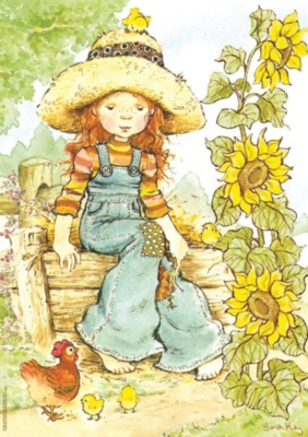 S.Kay: Sunflower - 700pc Large Format Jigsaw Puzzle by Heye