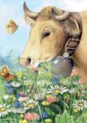 Marjolein Bastin: Cow  - 1000pc Jigsaw Puzzle by Heye