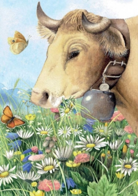 Cow - 1000pc Jigsaw Puzzle by Heye