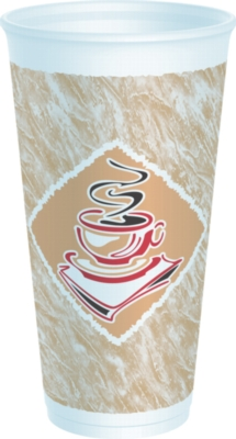Dart - Espresso Foam Cup, 20oz, 20X16G, 500/cs