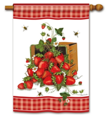 Strawberry Basket - Standard Flag by Magnet Works