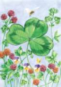 Clover & Bee - Garden Flag by Toland