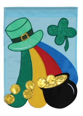 Shamrocks Gold - Standard Applique Flag by Toland
