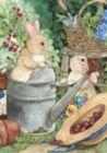Bunny Mischief - Garden Flag by Toland