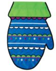 Mitten - Garden Applique Flag by Toland