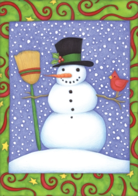 Top Hat Snowman - Standard Flag by Toland