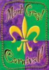 Mardi Gras Beads - Garden Flag by Toland