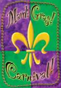 Mardi Gras Beads - Garden Flag by Toland