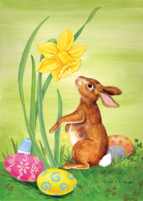 Bunny Daffodil - Standard Flag by Toland