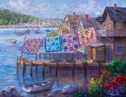 Dockside Quilts - 1000pc Large Format Jigsaw Puzzle By Sunsout