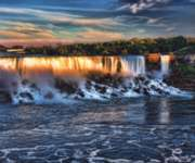 Sunset at the Falls - 550pc Jigsaw Puzzle By Sunsout