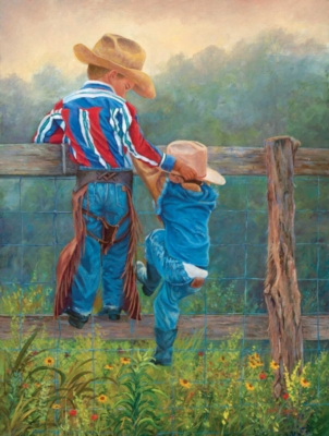 Cowboy Up - 500pc Jigsaw Puzzle By Sunsout