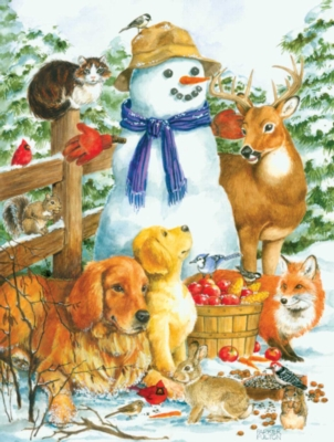 Frosty Friends - 300pc Large Format Jigsaw Puzzle By Sunsout