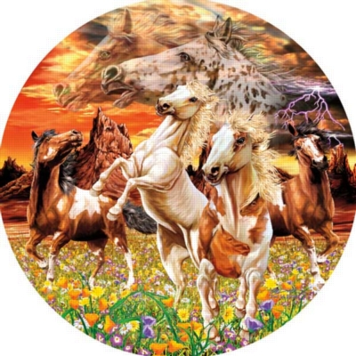 14 Horses - 1000pc Jigsaw Puzzle By Sunsout