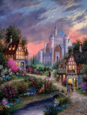 Enchanted Castle - 500pc Jigsaw Puzzle By Sunsout
