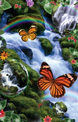 Butterfly Fairyland Falls - 1000pc Jigsaw Puzzle By Sunsout