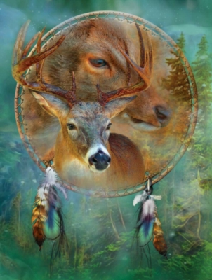 Deer Shield - 500pc Jigsaw Puzzle By Sunsout