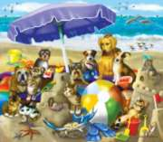 Beach Buddies - 300pc Large Format Jigsaw Puzzle By Sunsout