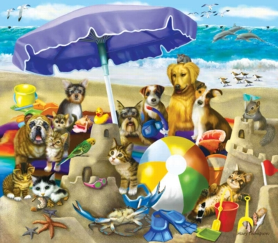 Large Format Jigsaw Puzzles - Beach Buddies