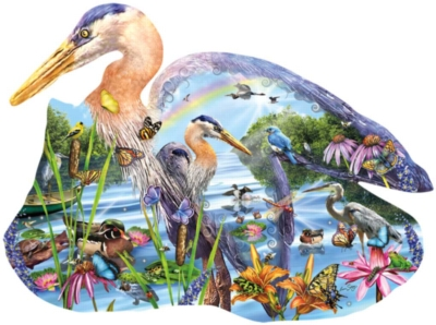 Wetland Wonders - 1000pc Shaped Jigsaw Puzzle By Sunsout