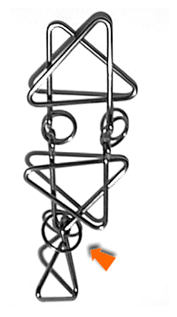 Triangle Dangle - Metal Disentanglement Puzzle by Uncles Puzzles