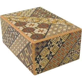 Wooden Koyosegi 4 Sun Japanese Puzzle Box